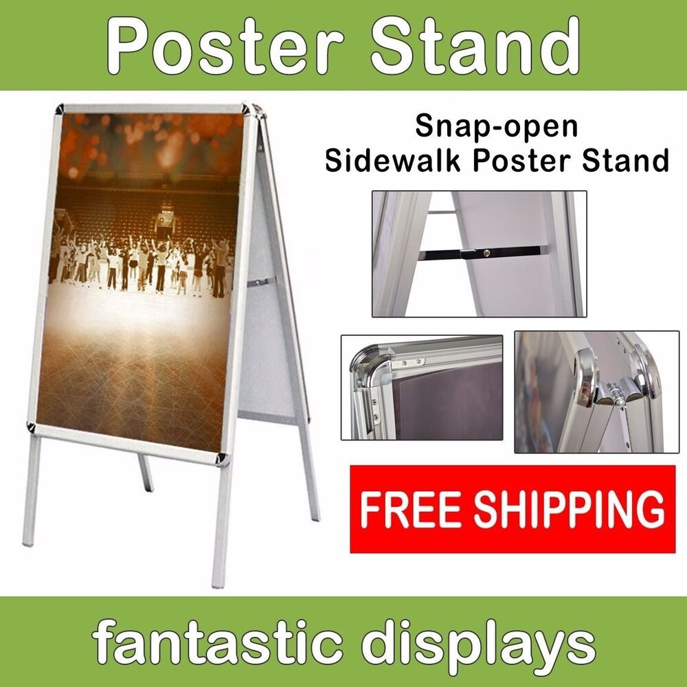 A-Frame Open Snap Front Loading Professional Poster Stand ...