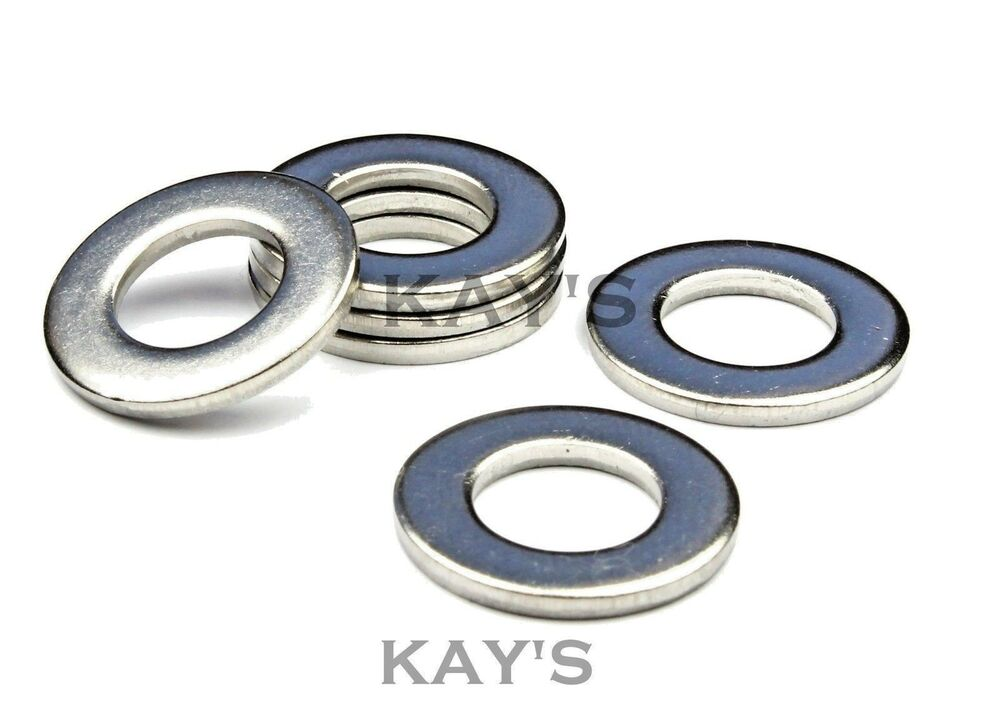 A marine grade stainless steel form thick washers to