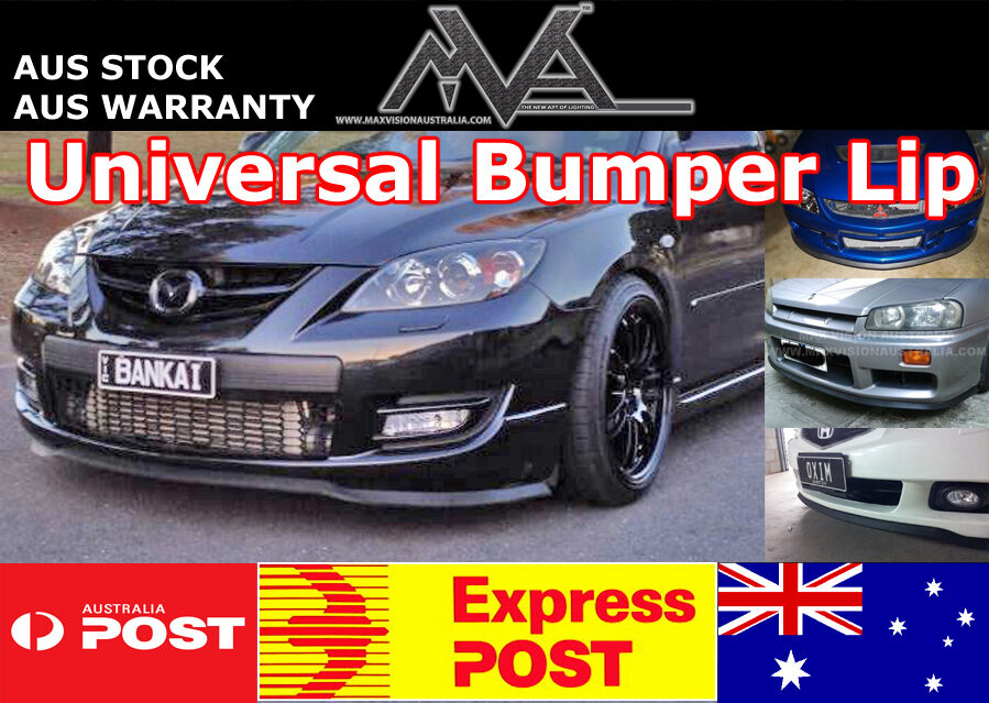 front bumper spoiler lip splitter body kit mx5 rx7 rx8 mps. Black Bedroom Furniture Sets. Home Design Ideas