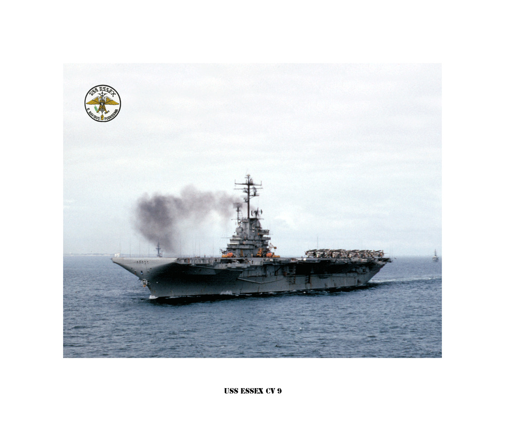 uss essex cv 9 naval ship photo print usn navy ebay