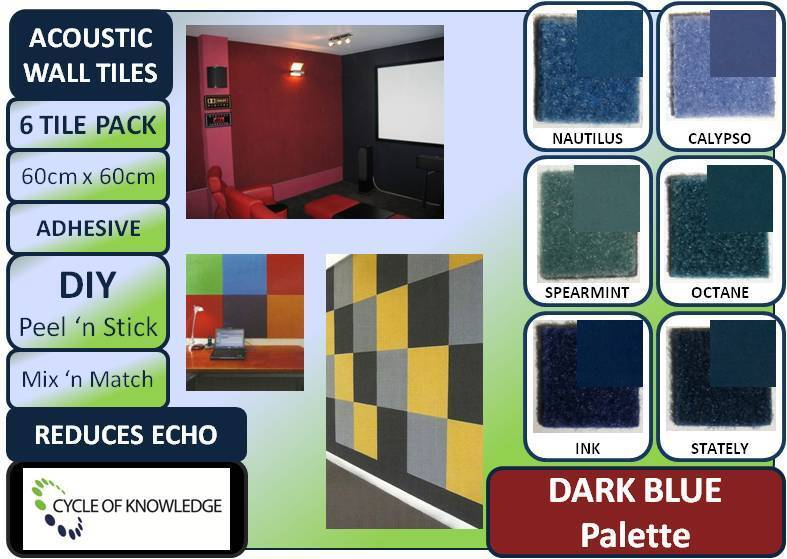 Stick On Soundproofing For Walls : Soundproofing fabric wall tiles reduce echo diy peel n