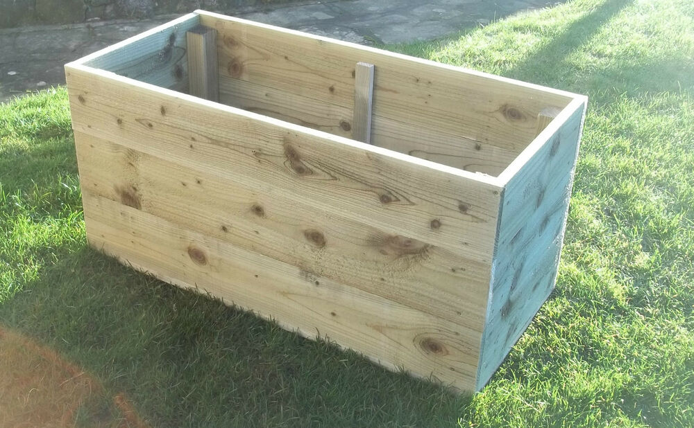 Large Wooden Garden Planters Raised Beds Many Sizes Prices From Ebay