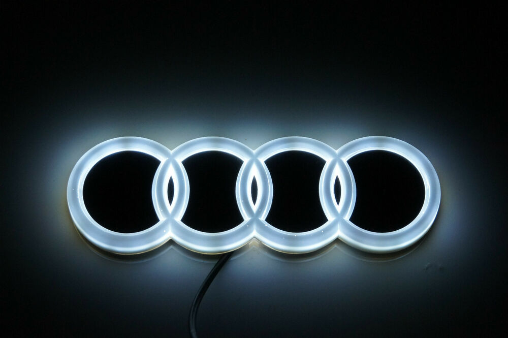 high quality white color led light logo emblem for audi a3. Black Bedroom Furniture Sets. Home Design Ideas