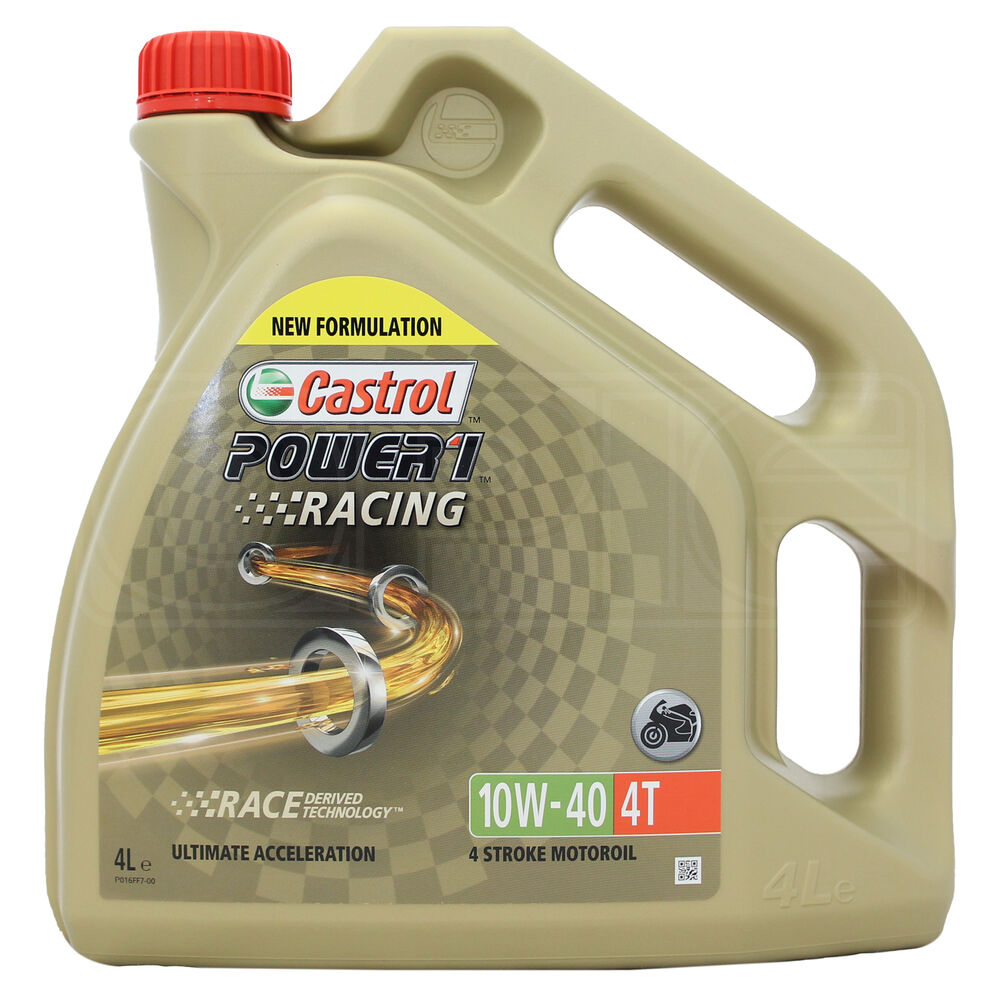 castrol power 1 racing 4t 10w 40 synthetic 4 stroke 10w40 bike oil 4 litres 4l ebay. Black Bedroom Furniture Sets. Home Design Ideas