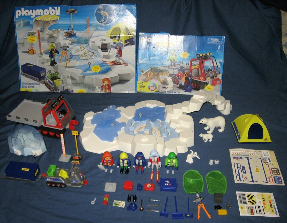 Playmobil set 3184 base camp dinosaur expedition set 3191 - Dinosaur playmobile ...
