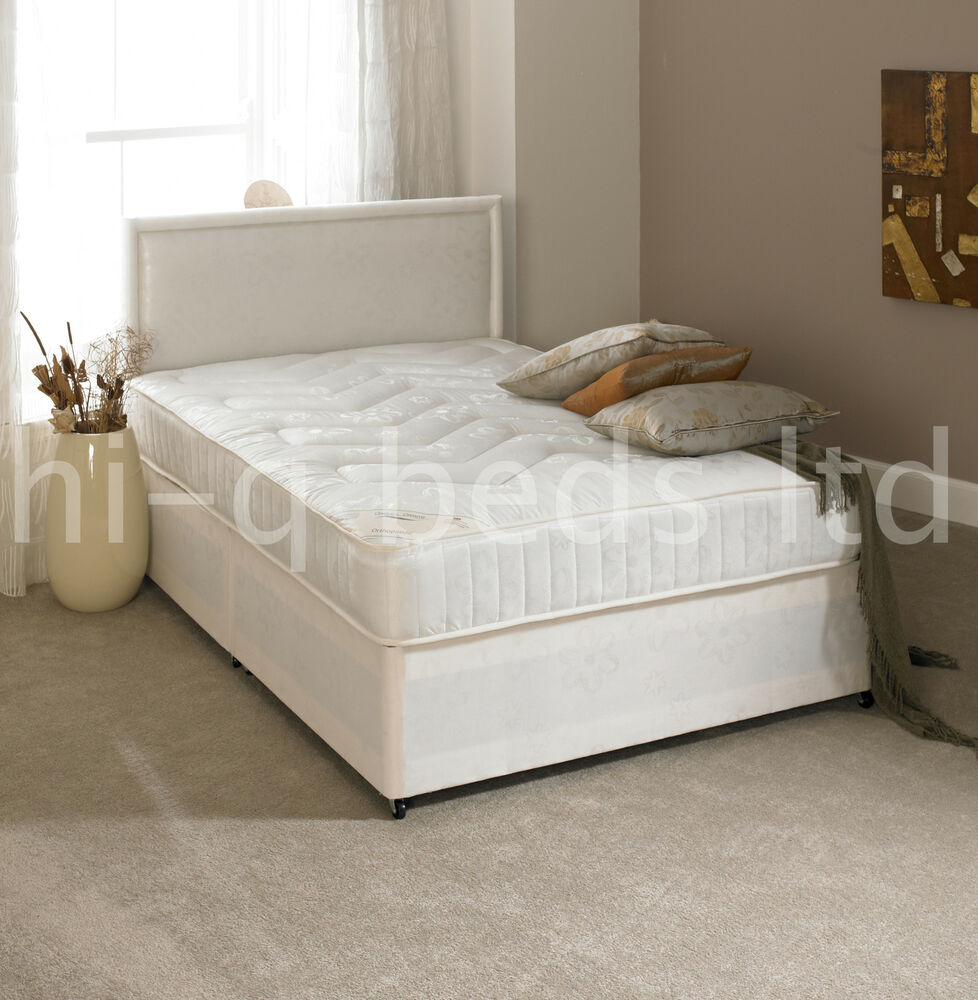 2ft6 3ft 3ft6 4ft 4ft6 5ft new firm ortho divan bed and 10 for Double divan bed with firm mattress