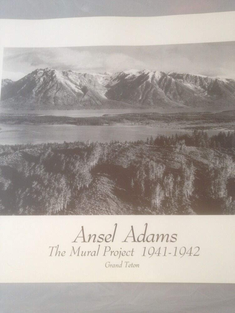 Ansel adams the mural project grand teton poster new ebay for Ansel adams mural project