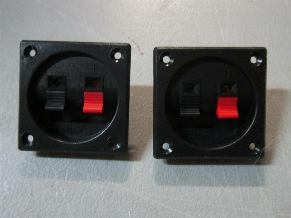 new 2 speaker input terminal pair wire connector subwoofer box cable connection ebay. Black Bedroom Furniture Sets. Home Design Ideas