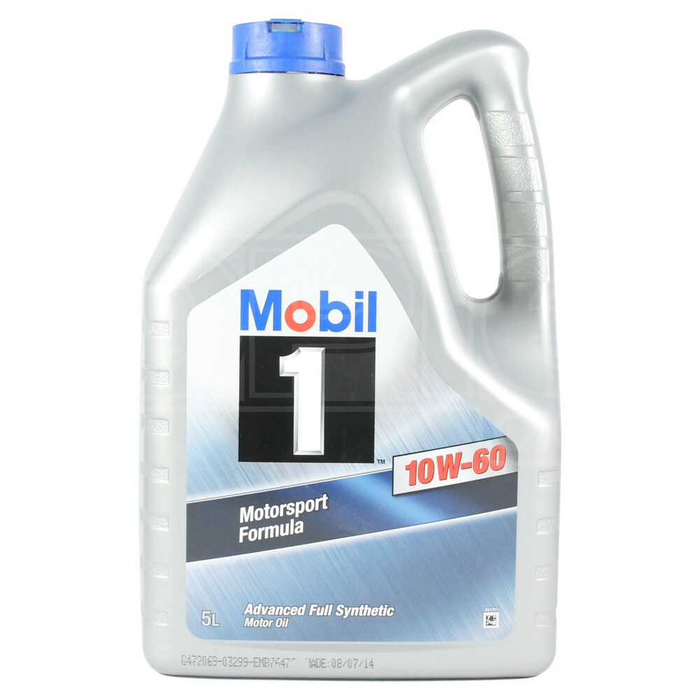 Mobil 1 10w 60 Engine Oil 10w60 Mobil1 5 Litres 5l Ebay