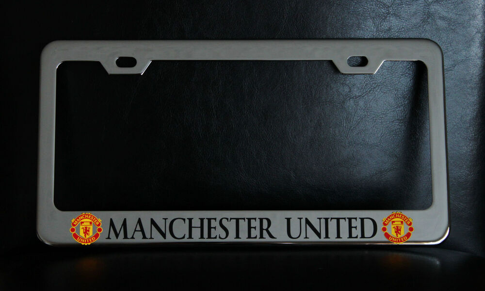 """MANCHESTER UNITED"" License Plate Frame, Custom Made of ..."
