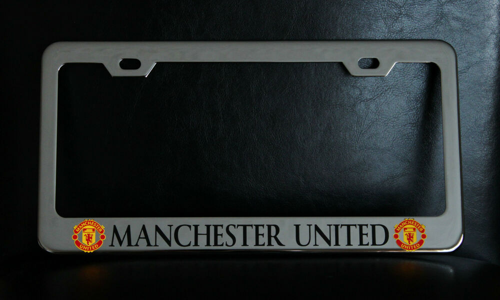 Quot Manchester United Quot License Plate Frame Custom Made Of