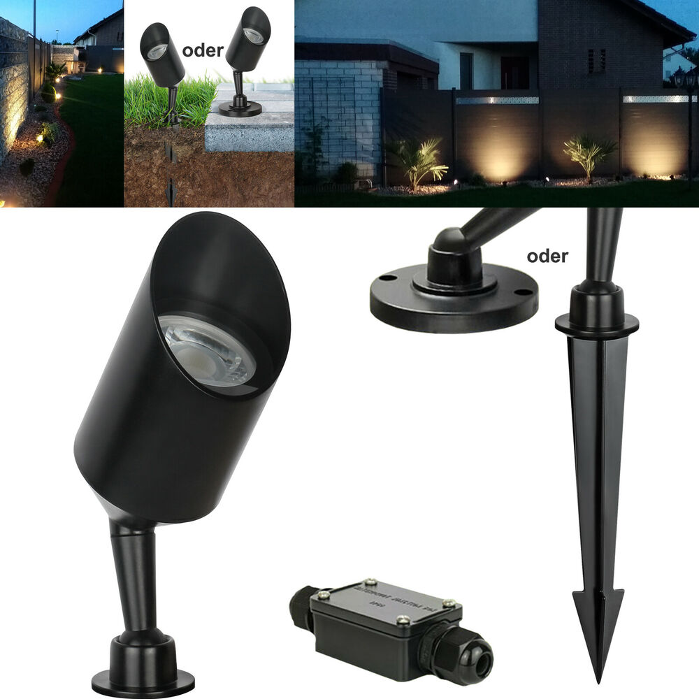 gartenleuchte 230v led o halogen ip68 aufbaustrahler bodenleuchte spot gardeno ebay. Black Bedroom Furniture Sets. Home Design Ideas