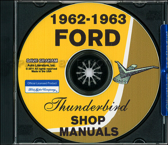 1962 1963 Ford Thunderbird Cd Shop Manual T Bird Repair
