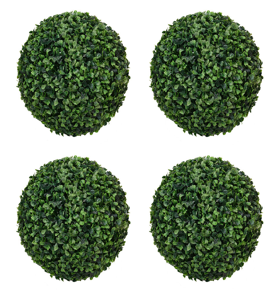 Four 10 5 Quot Artificial Boxwood Ball Indoor Outdoor Topiary