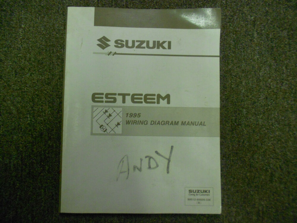 1995 Suzuki Esteem Wiring Diagram Shop Manual Factory Oem Book 95 Dealership