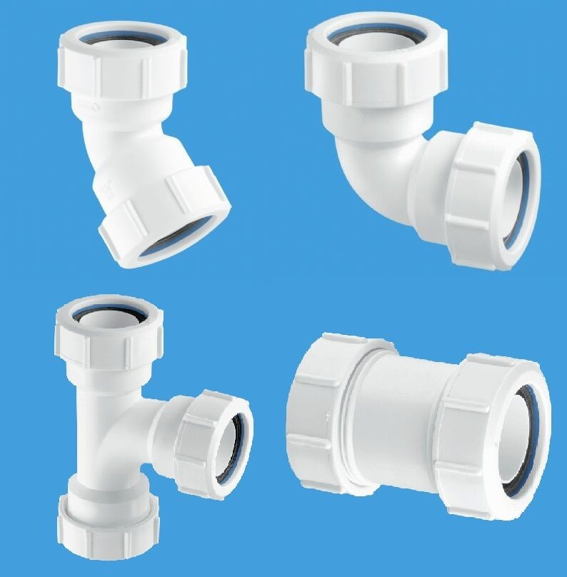 Mm waste pipe fittings elbow straight