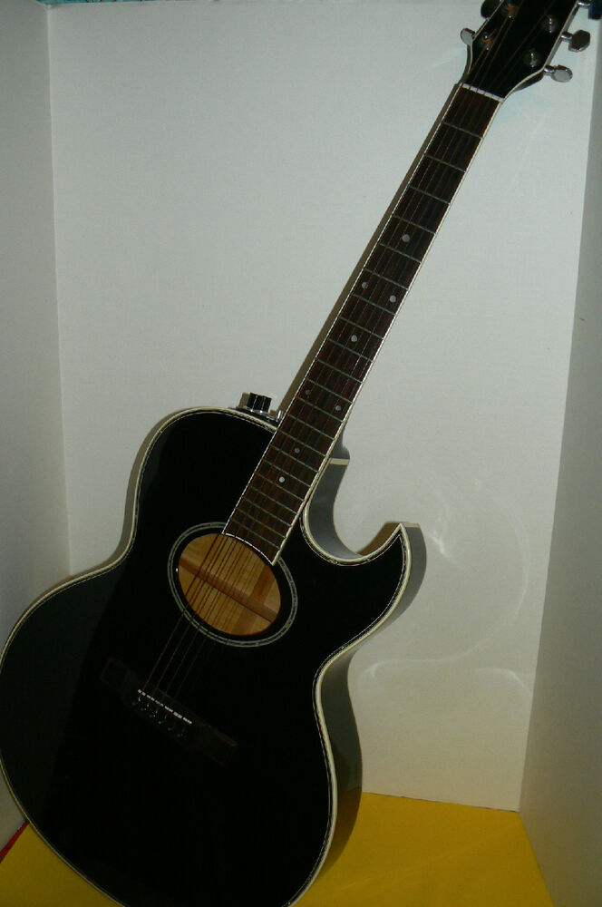 george washburn acoustic electric woodstock guitar inlay edge ebay. Black Bedroom Furniture Sets. Home Design Ideas