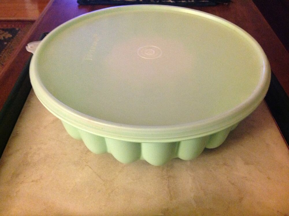 Vintage Tupperware Jello Mold 3 Pieces Mint Green And