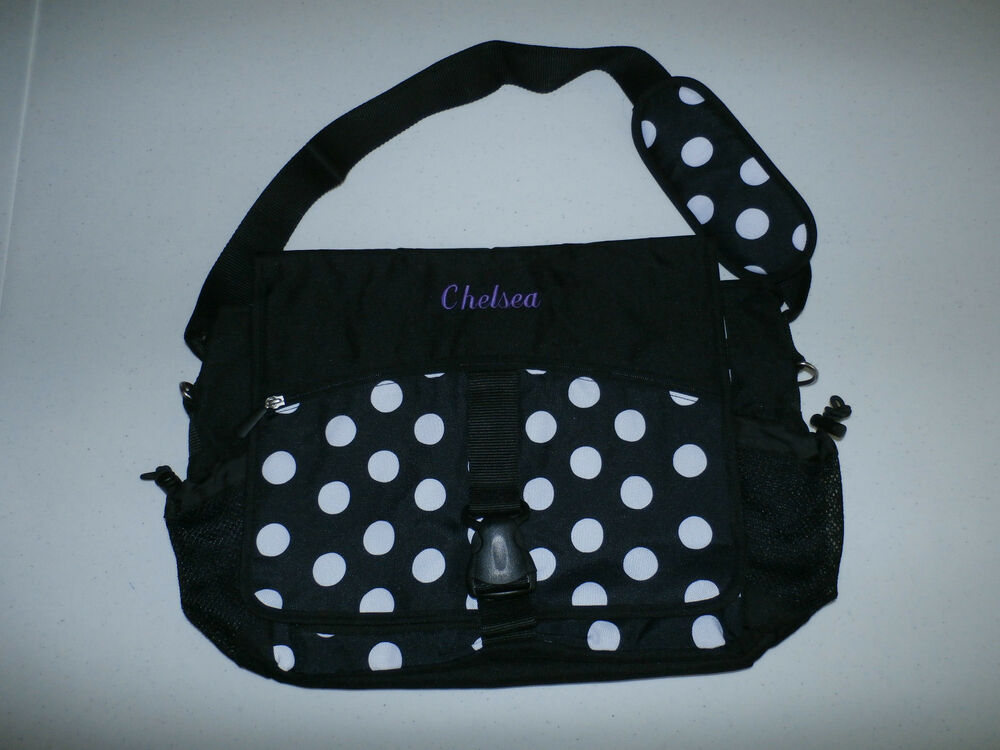 Pottery Barn Teen Gear Up Black Dot Messenger Bag Quot Chelsea