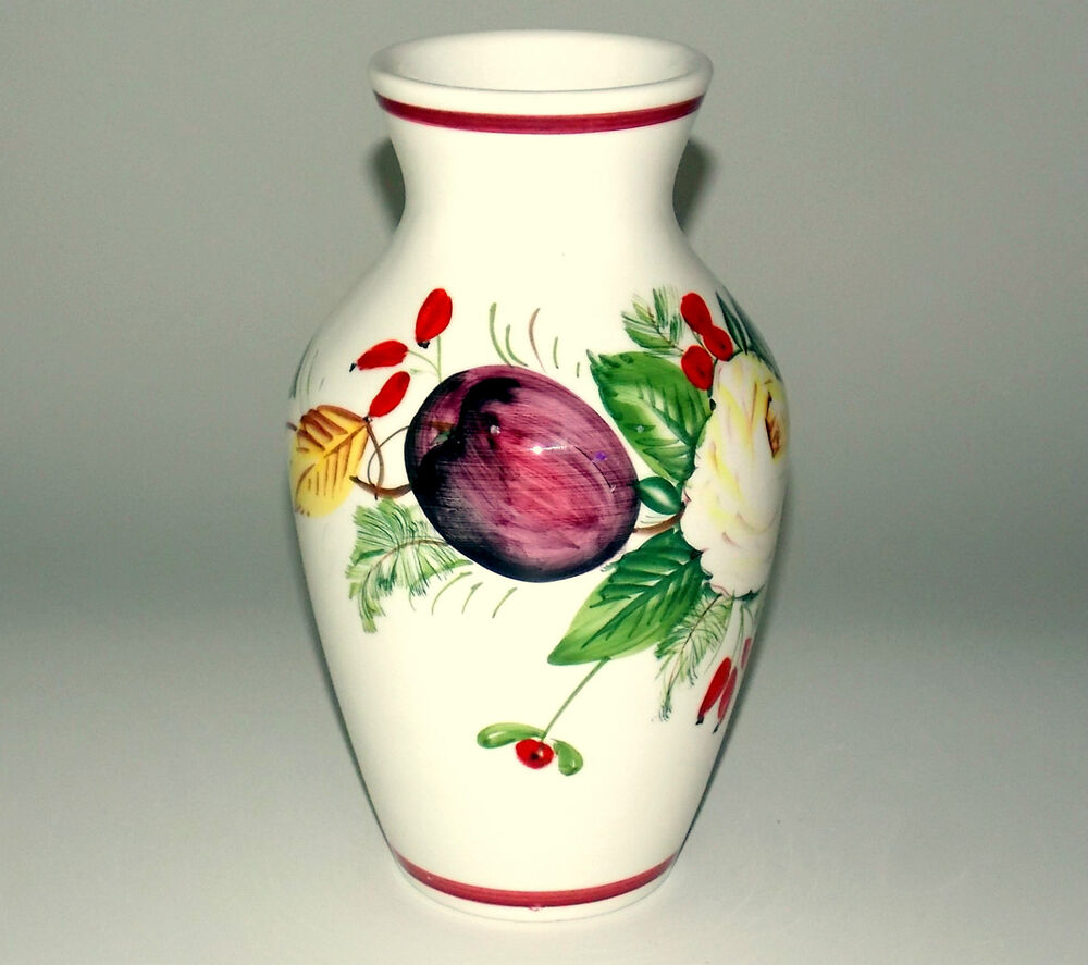 Vases With Flowers Hand Painted In Italy