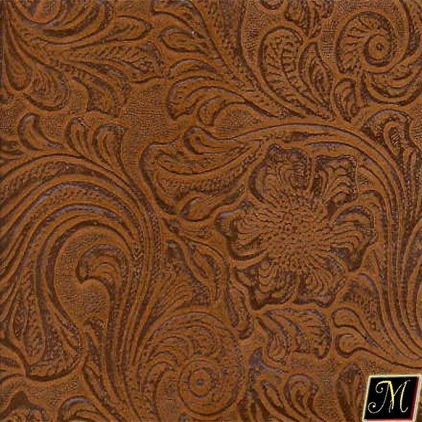 Faux Leather Vinyl Fabric Embossed Floral Nugget Vinyl 54