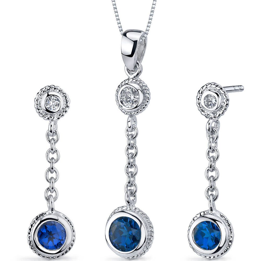1 5 ct earrings 1 5 ct blue sapphire sterling silver earring and 1622