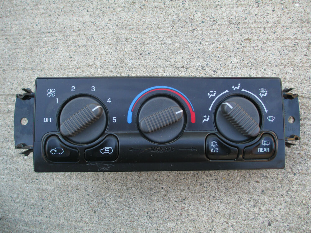 00 02 chevy silverado gmc sierra a c heater climate control oem p on Volvo Truck Heater Control for 00 02 chevy silverado gmc sierra a c heater climate control oem p n 15054698 ebay at 1995 Chevy 1500 Heater Connection