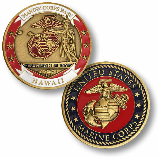 marine corps base kaneohe bay challenge coin usmc hawaii. Black Bedroom Furniture Sets. Home Design Ideas