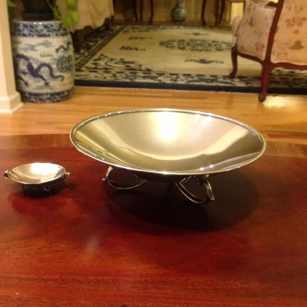 Vintage Mid Century Modern Wallace Sterling Silver Footed