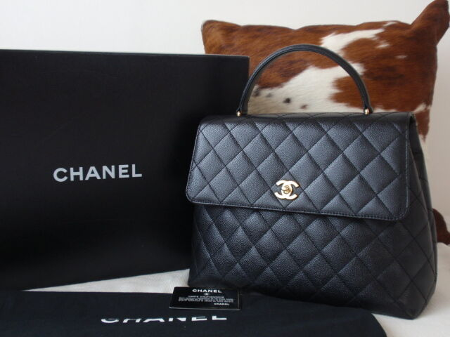 a6004c867018 RARE! AUTHENTIC CHANEL BLACK CAVIAR JUMBO KELLY BAG