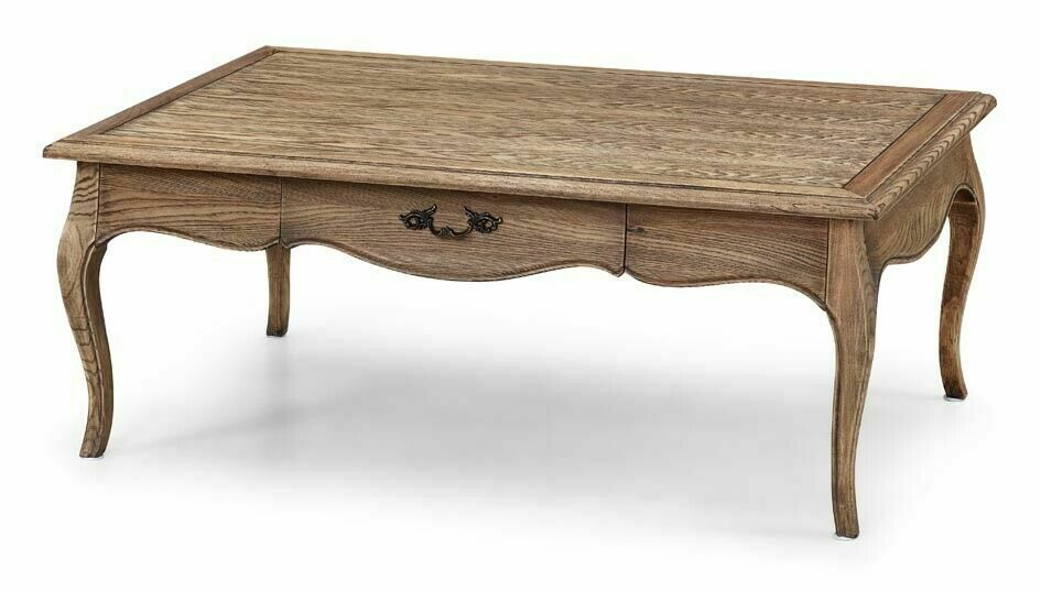 French Provincial Oval Coffee Table: French Provincial Furniture Coffee Table In Natural Oak