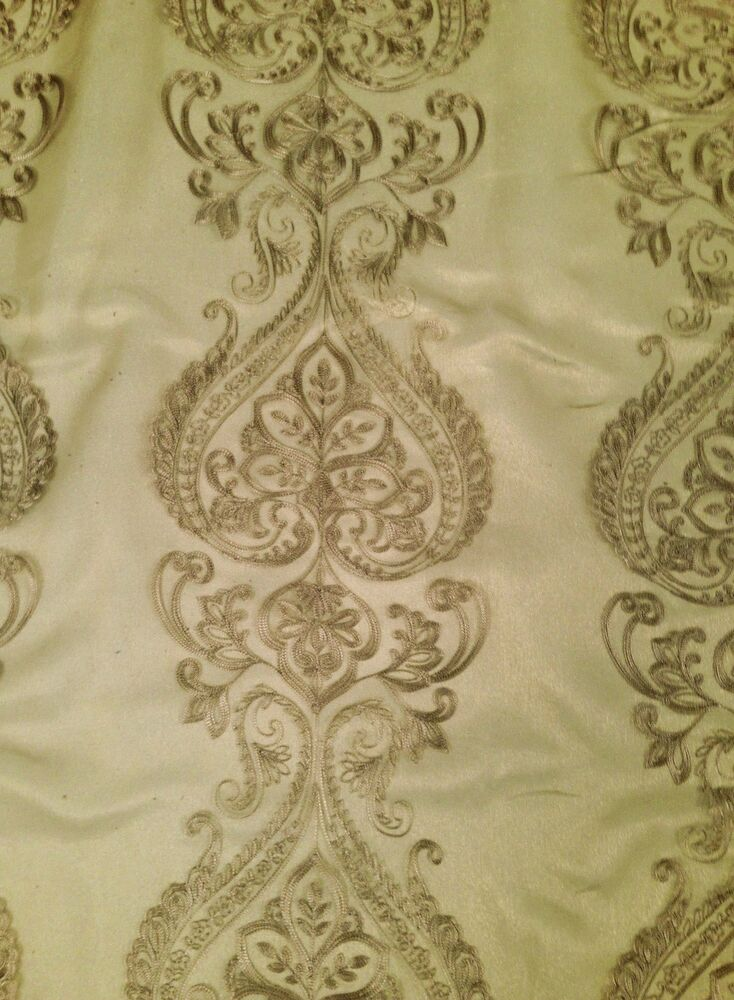 Antique Florence Embroidered Sheer Organza Fabric By The