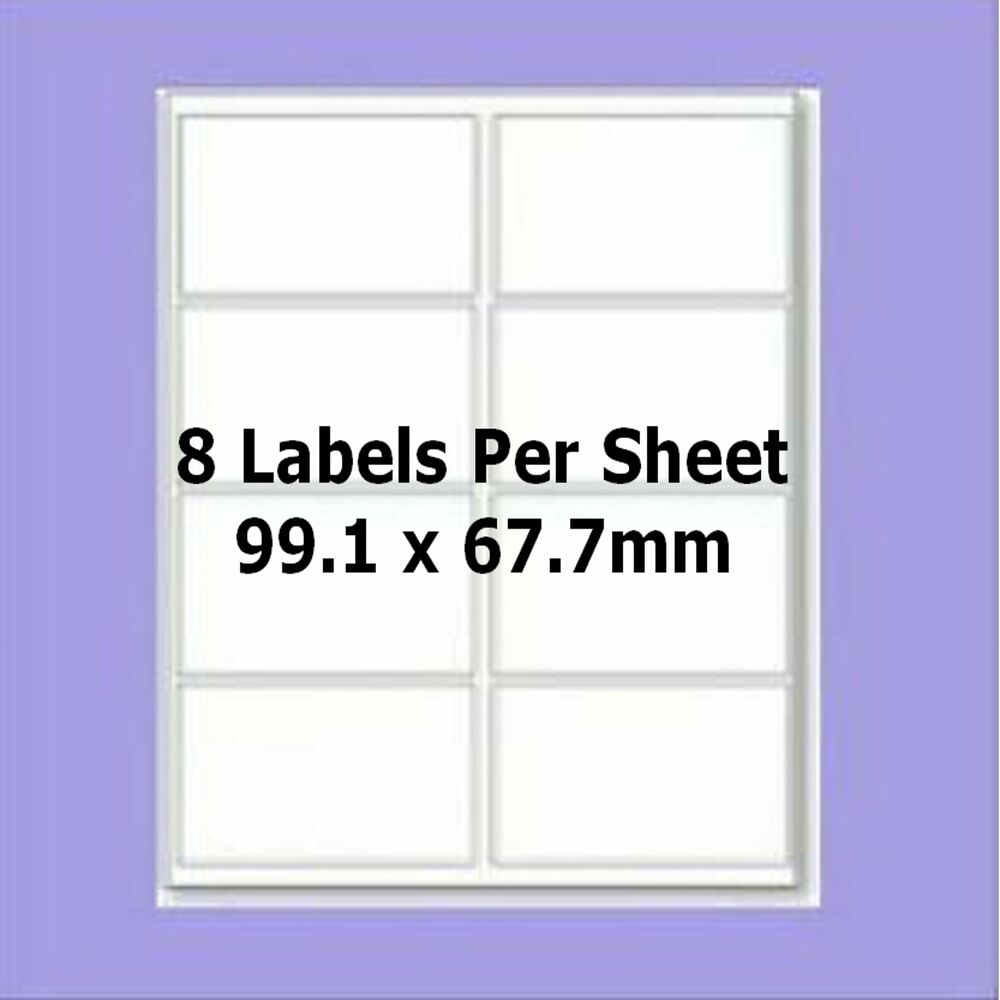 99 1 x 67 7 mm label template - blank self adhesive labels 8 per a4 sheet l7165