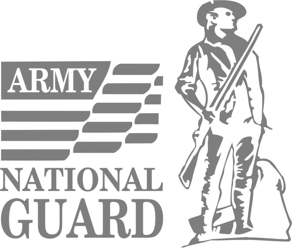 U S Army National Guard 4 Wall Vinyl Decal Sticker