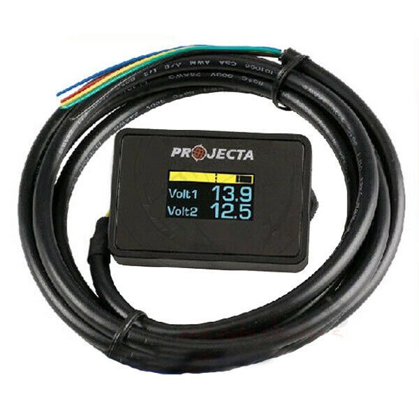 Rv Battery Voltage Gauge : Projecta dual battery monitor dbm with voltage alarm
