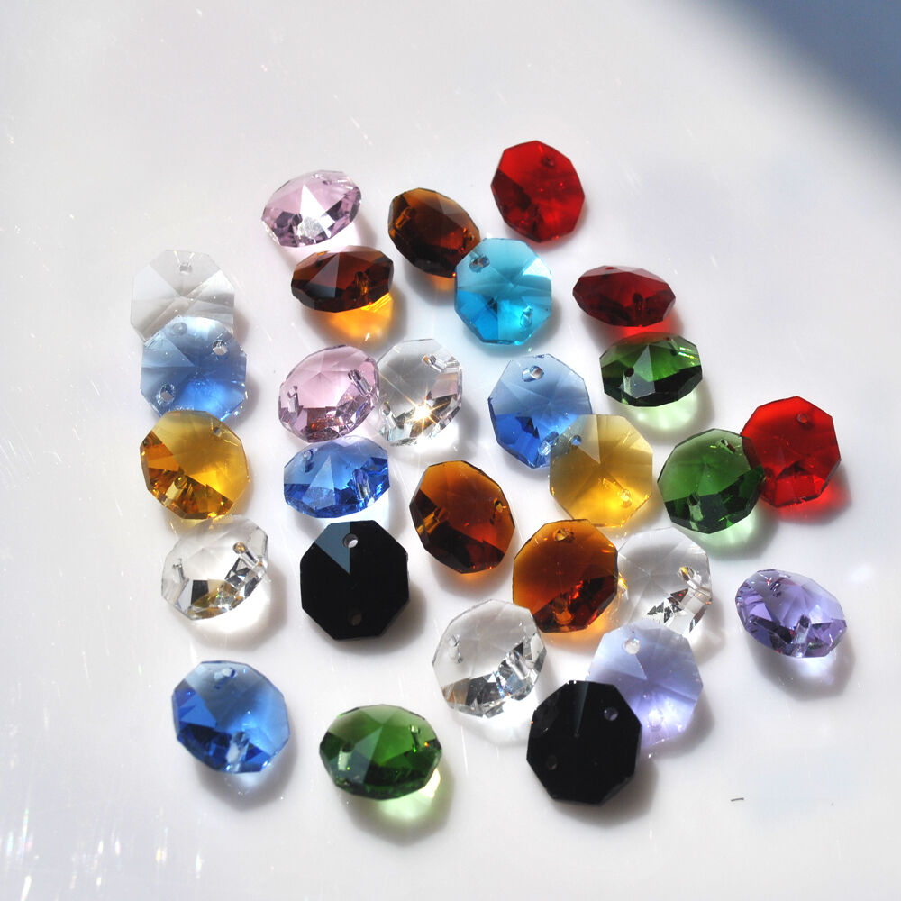 14mm octagon beads crystal chandelier parts decoration ...