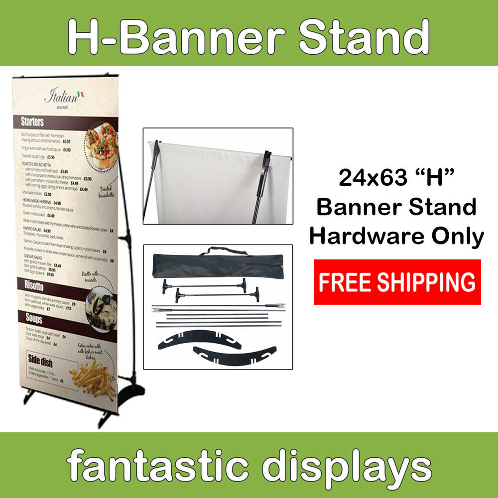 24 quot h banner stand for trade shows exhibits expos office store ebay