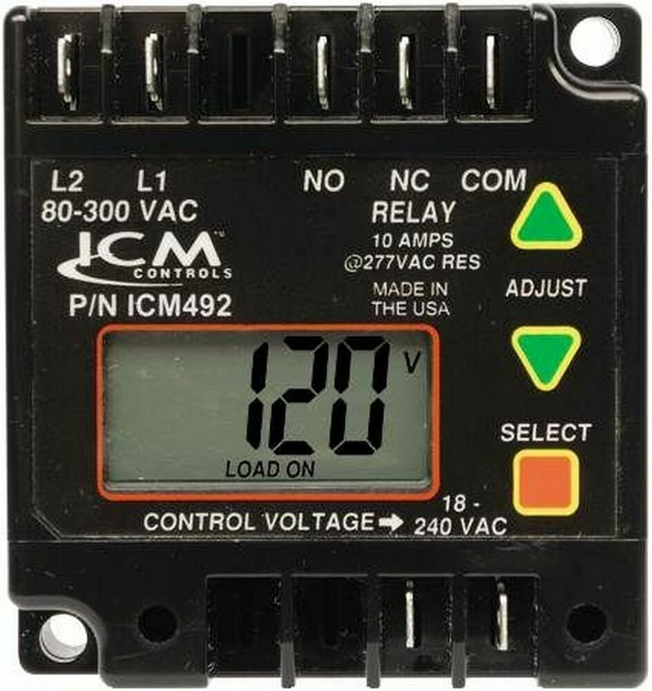 Phase Loss Monitor : Icm c digital line monitor single phase voltage