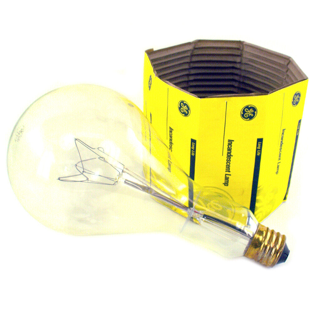 ge clear 1000 watt incandescent bulb 22284 6 277 volts ebay. Black Bedroom Furniture Sets. Home Design Ideas