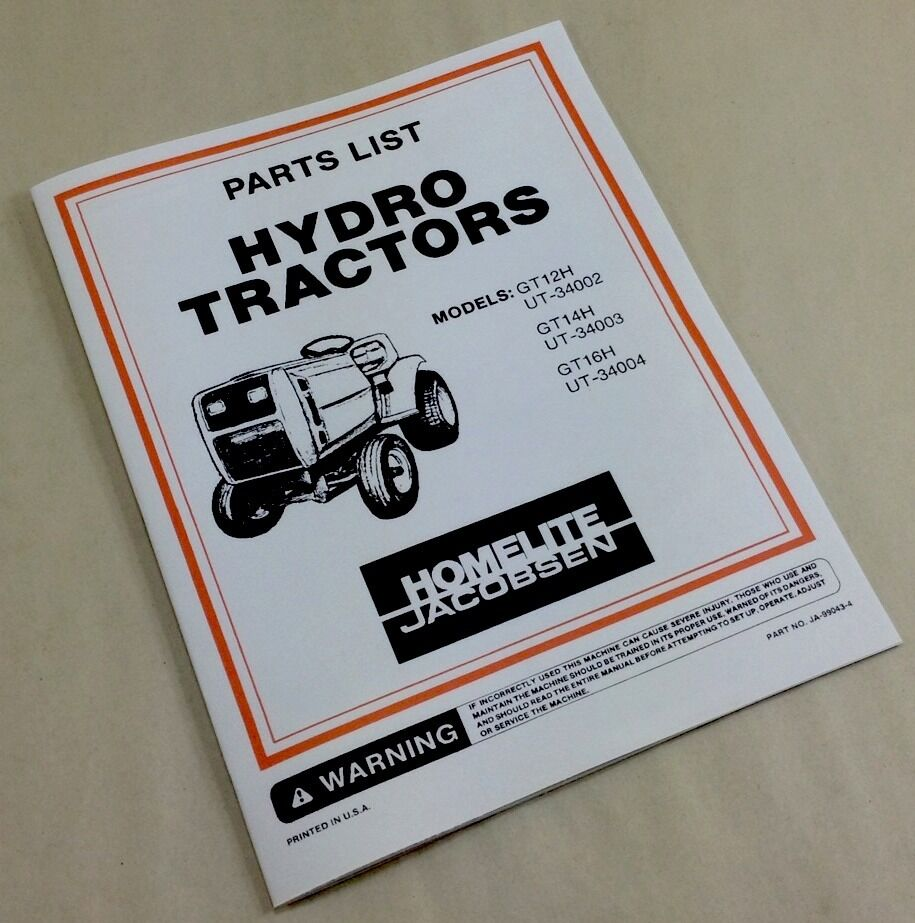 Homelite Jacobsen Parts Decorating Interior Of Your House Lawn Mower Wiring Diagram Hydro Tractors Gt12h Ut 34001 Gt14h
