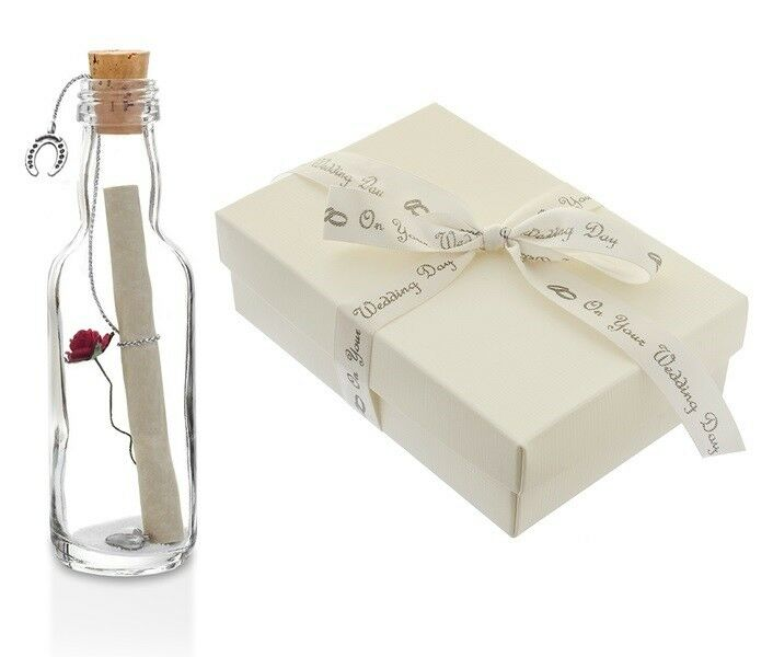 A Personalised Wedding Gift Message : On Your Wedding Day Gift PERSONALISED Message in a Bottle in a GIFT ...