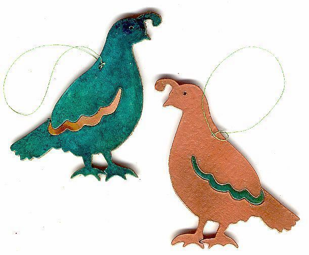 Coppercutts Quail Ornament Southwest Copper With Choice Of Ornaments To Color For Primary