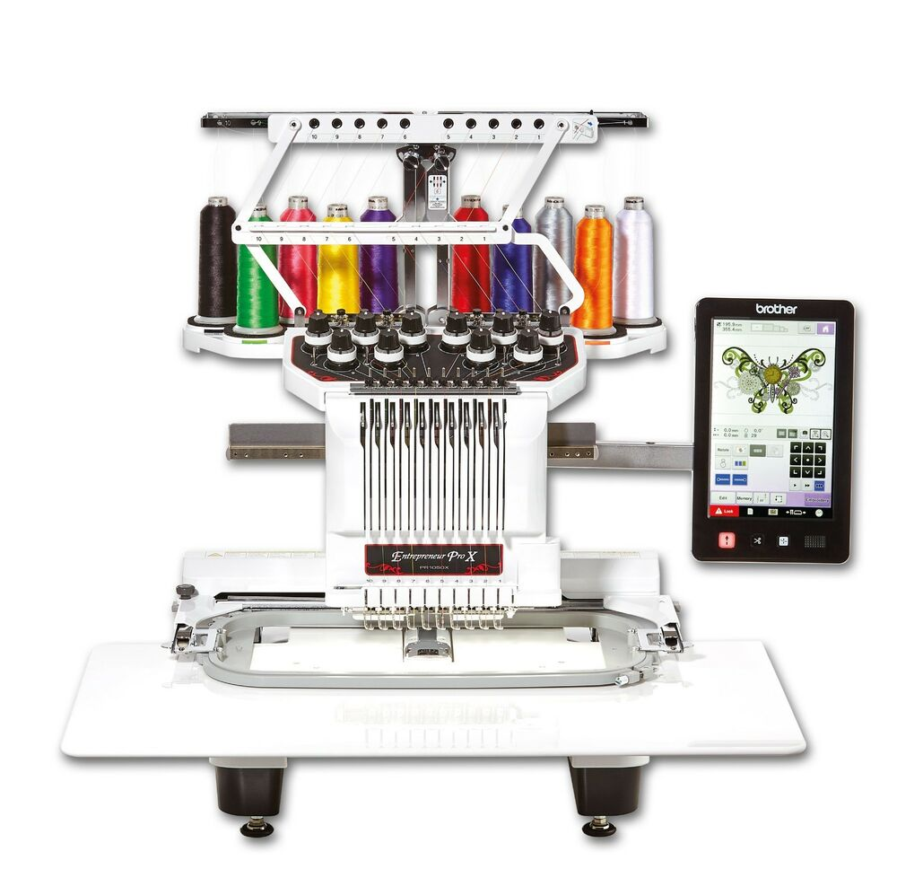 Brother PR1000E 10 Needle Industrial Embroidery Machine | EBay