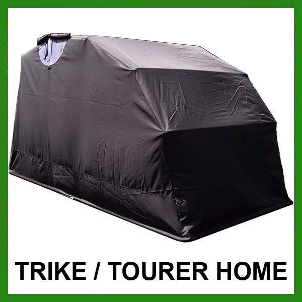 Folding motorbike bike cover tourer motorcycle garage shed trike storage barn ebay - Motorcycle foldable garage tent cover ...