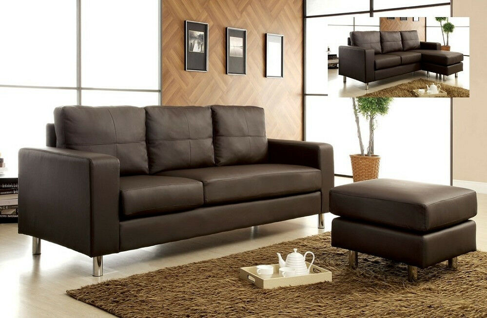 sofa sectional couch living room furniture brown leather sofa
