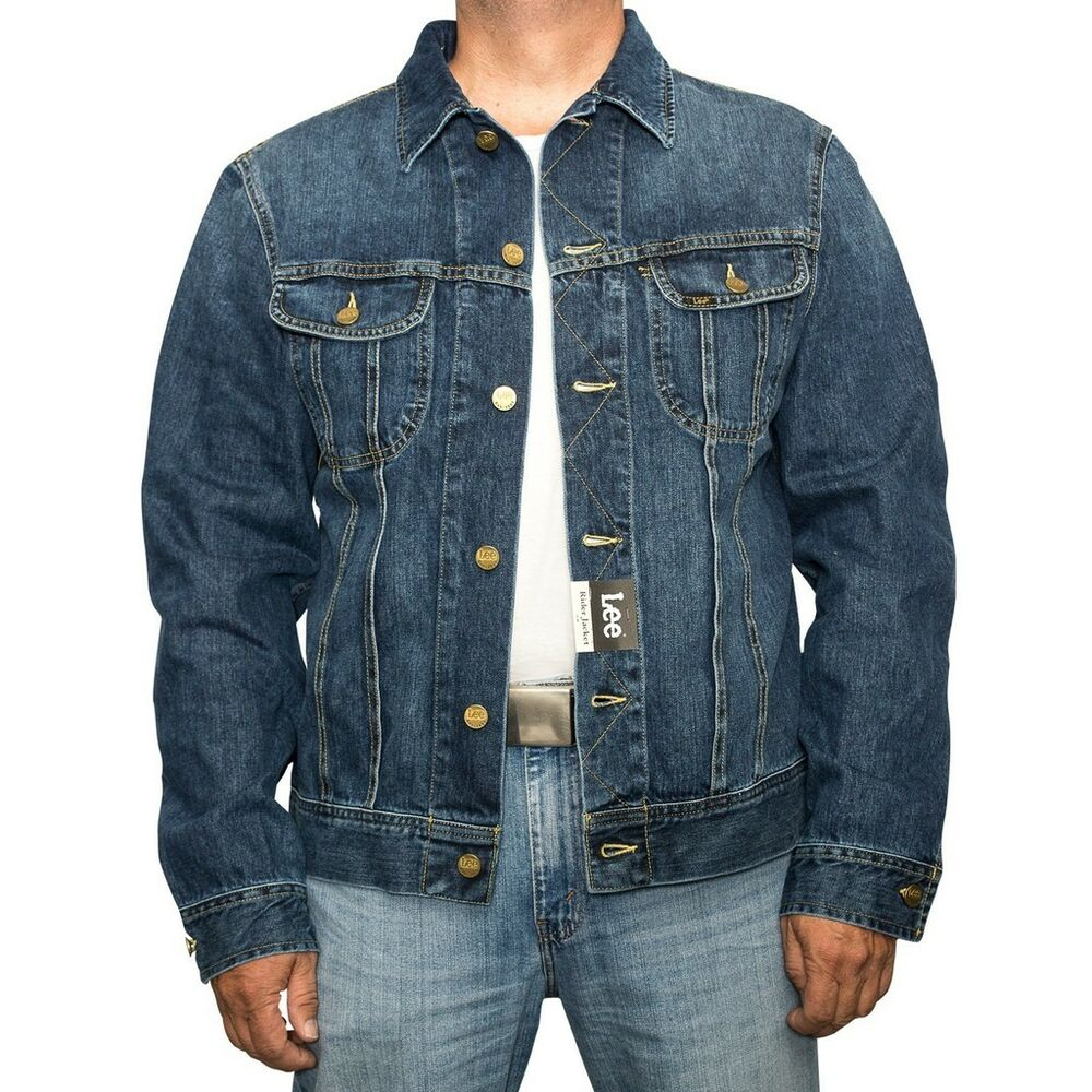 lee rider jeansjacke epic blue l888 dfua herren denim western jacket biker ebay. Black Bedroom Furniture Sets. Home Design Ideas