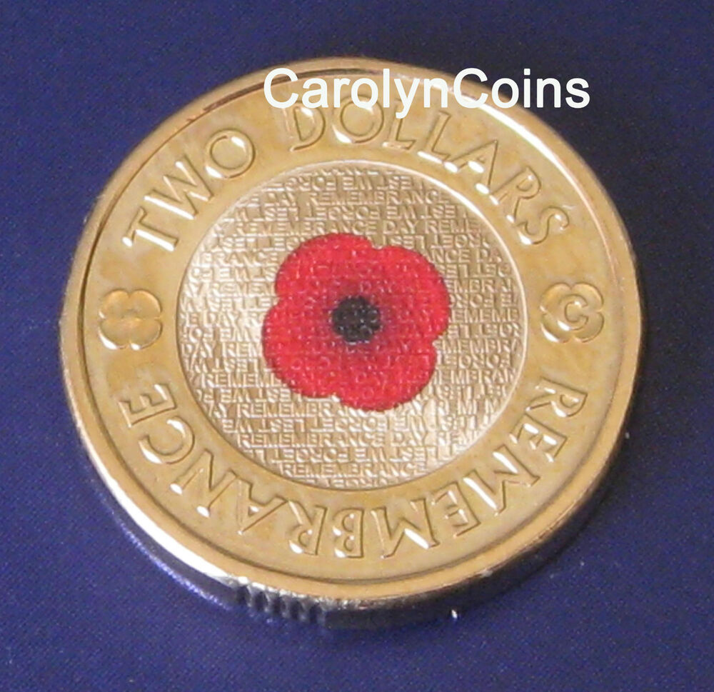 2012 2 Remembrance Day Two Dollar Australian Coin Unc Colour Printed In Card Ebay