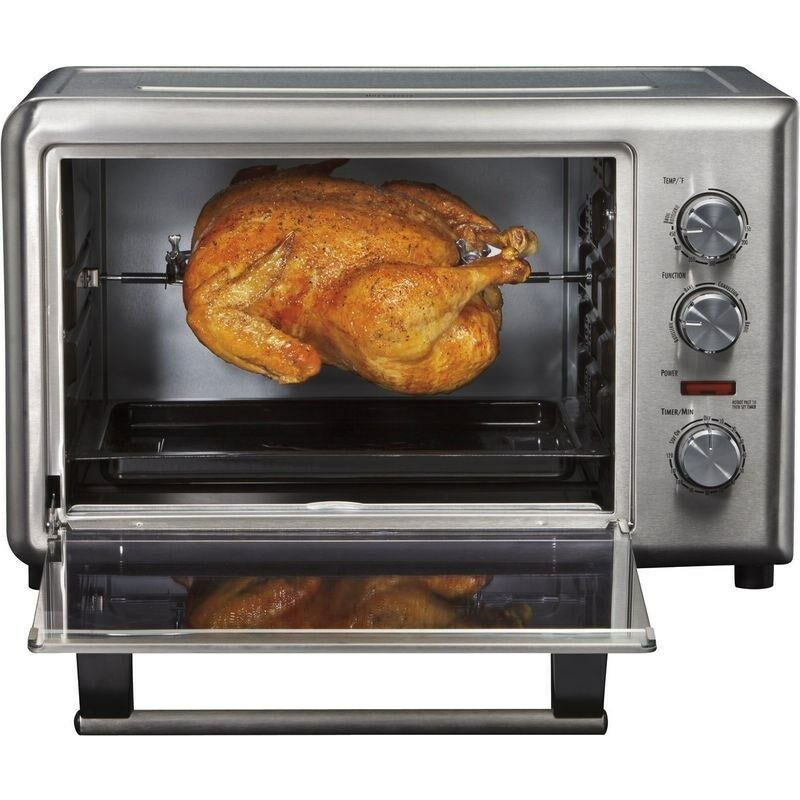 Stainless Steel 10 Slice Convection Toaster Oven & Rotisserie, Pizza ...