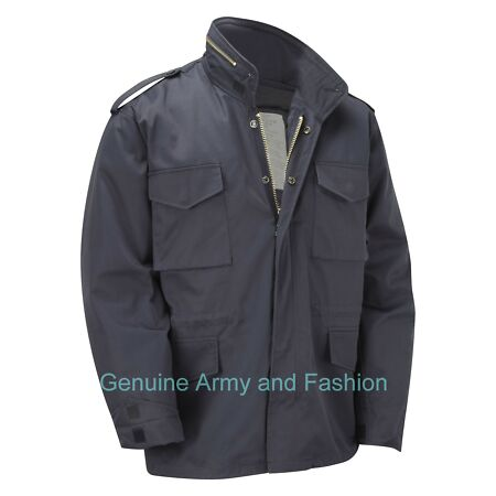 img-M65 Jacket Army Military Combat US Field Quilted Liner Winter Coat Vintage Navy