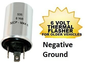 6 volt 535 negative ground turn signal flasher socket. Black Bedroom Furniture Sets. Home Design Ideas